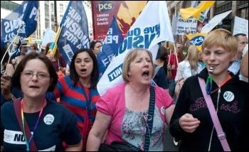 30 June strike of civil servants and teaching unions, photo Paul Mattsson