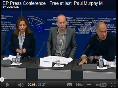 Paul Murphey MEP press conference on his release from Israeli prison