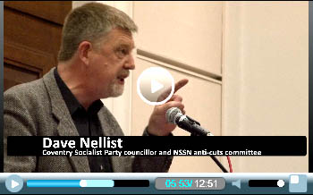 Dave Nellist, Socialist Party councillor in Coventry and Trade Unionist and Socialist Coalition , speaking at Socialism 2011