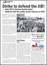 Strike to defend the JIB! Socialist Party leaflet