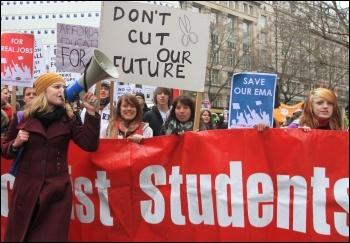 Student protest 29 January 2011, photo Senan
