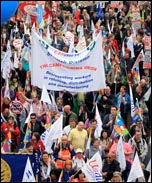 26 March TUC demonstration, photo by Senan