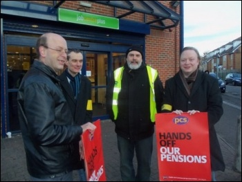 November 30th Strike, Waltham Forest job centre, London, photo Alison Hill