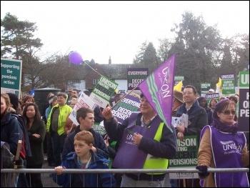 30th November demo in Hertford, photo Steve Glennon