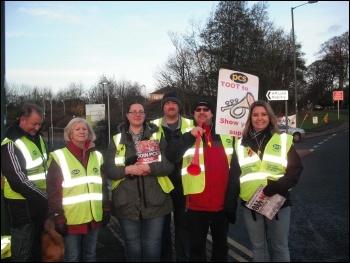 30th November  PCS picket line in Tyneside, photo by Elaine Brunskill