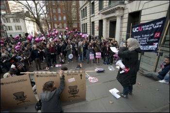 30th November, UCU strikers in London, photo Paul Mattsson
