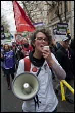 NHS workers on strike on 30 November 2011, photo Paul Mattsson