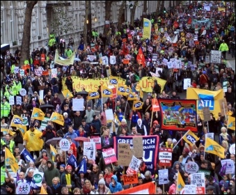 50,000 march in London on 30th November 2011, photo Senan