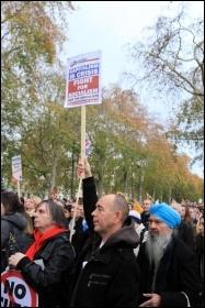 London demonstration, 30th November 2011, photo Senan