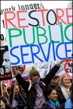 N30: millions of public sector workers went on strike on 30 November 2011, photo Senan