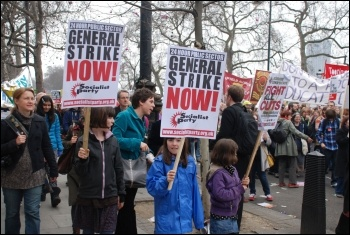26 March 2011 TUC demonstration showed the possibilities for a 24 hour general strike, photo Suzanne Beishon