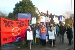 Picket outside Oasis Academy, Salford, Photo Paul Gerrard, photo Paul Gerrard