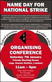 PCS Left Unity organising conference