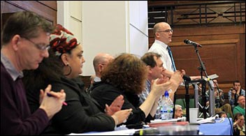 PCS left Unity meeting: Organising to step up the pensions struggle , photo Senan