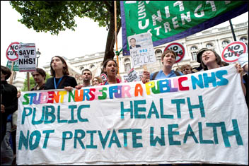 Public Health not private wealth - protest against privatisation in the NHS 2011, photo by Paul Mattsson