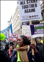 30 November public sector strike (N30) , photo Paul Mattsson