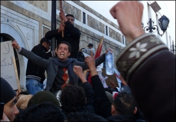 Anti-government demonstrations during the 2010�2011 Tunisian uprising, photo Creative commons