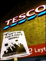 For Real Jobs not Workfare - Youth Fight for Jobs protest outside Tesco, photo Suzanne Beishon