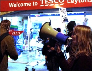 For Real Jobs not Workfare - Youth Fight for Jobs protest outside Tesco, photo by Suzanne Beishon