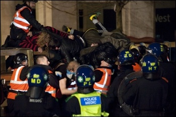 Last stand of the St Pauls Occupy London protesters, photo Paul Mattsson