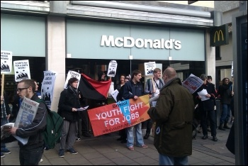 Anti-workfare protest in Bristol, 3.3.12