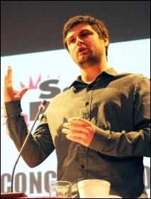 Paul Callanan addresses Socialist Party congress 2012, photo Senan