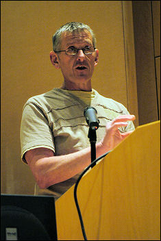 Andy Bentley at Socialist Party congress 2008, photo Paul Mattsson