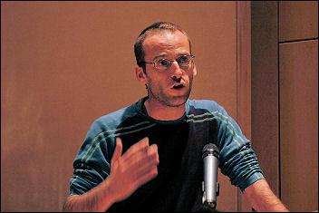 Karl Debaut at Socialist Party congress 2008, photo Paul Mattsson