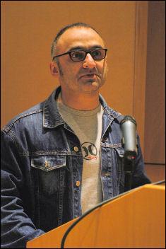 Onay Kasab at Socialist Party congress 2008, photo Paul Mattsson