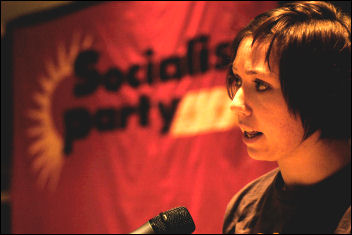 Leah Jones at Socialist Party congress 2008, photo Paul Mattsson