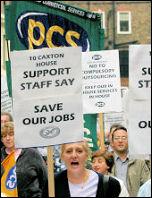 PCS workers on strike, photo Paul Mattsson