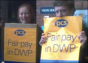 DWP members strike on 17 - 18 march 2008