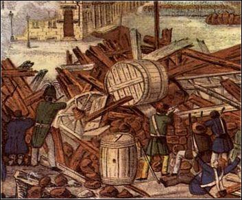 Street battles in Germany in 1848