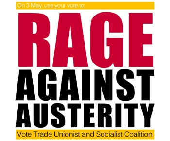 Rage against austerity, photo by  Socialist Party
