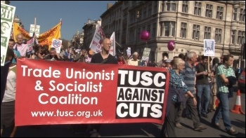TUSC on the NUT London strike demonstration on 28 March 2012, photo Socialist Party