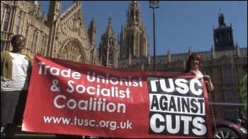 TUSC on the 28 March 2012 NUT London strike and demonstration, photo Socialist Party