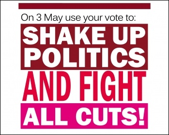 Shake up politics and fight all cuts, graphic by The Socialist