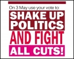 Shake up politics and fight all cuts, photo The Socialist