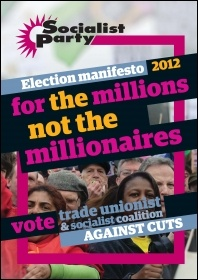 Socialist Party election manifesto 2012, photo Paul Mattsson