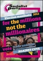 Socialist Party election manifesto 2012, photo Paul Mattsson