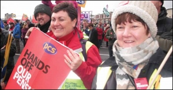 On the 30 November strike in Newcastle, photo Elaine Brunskill