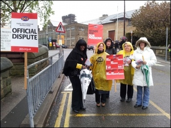 Walkout by POA members at Armley prison, Leeds was strongly supported by PCS members, admin and training officers picketing outside the prison