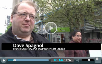 Dave Spagnol, PCS DWP branch secretary Outer East London