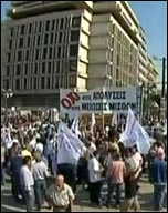 Demonstration in Greece during 48 hour general strike