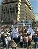 Demonstration in Greece during 48 hour general strike