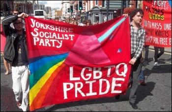 Leeds Pride, photo Leeds Socialist Party