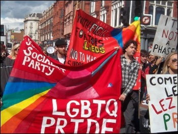 Leeds Pride 2011, photo Leeds Socialist Party