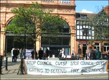 Chester Library action - 12th May 2012, photo by Anna Vickery