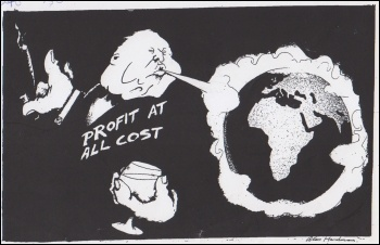 Profit at all cost, cartoon by Alan Hardman