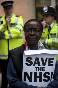 Protesting in London, May 2011, photo Paul Mattsson